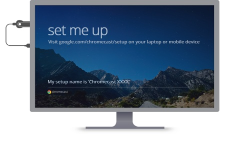 Chromecast Setup Start Screen