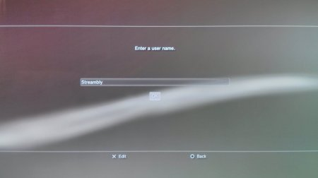 Screen Capture: PS3: New Account Username