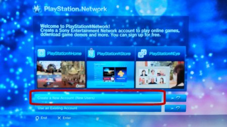 Screen Capture: PS3: PSN Create Account