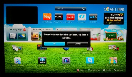 Photo: Samsung: Update Smart Hub