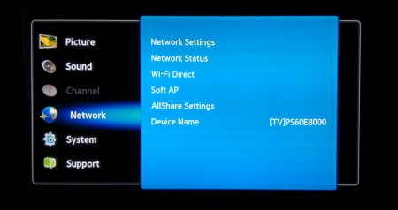 Photo: Samsung: Network Settings