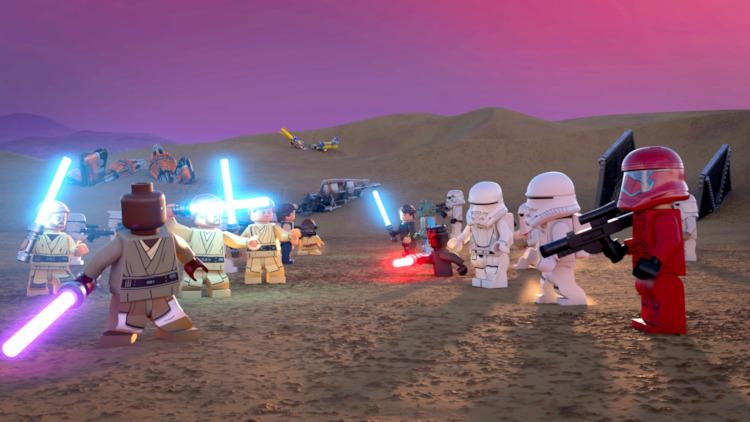 Still from LEGO Star Wars Holiday Special