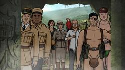 Still from Archer: Danger Island