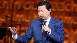 Photo of Ken Jeong doing stand-up comedy