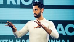 Still from Patriot Act with Hasan Minhaj