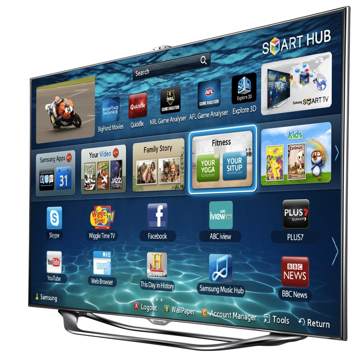 presto app added to samsung smart tvs streambly. Black Bedroom Furniture Sets. Home Design Ideas