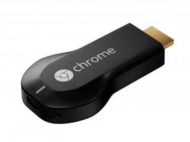 A photo of the Google Chromecast device