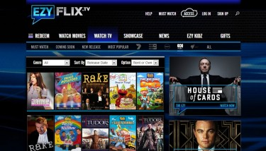 A screenshot of the EzyFlix.TV website's ABC TV section