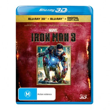 Iron Man 3 Blu-ray 3D Edition Box Art