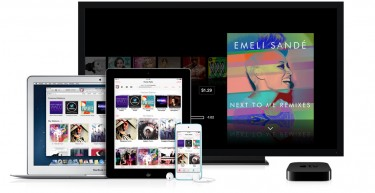 Photo showing iTunes Radio on various Apple devices