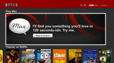 A screenshot of Netflix Max