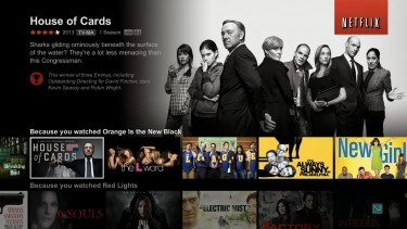 Screenshot of the new Netflix unified interface