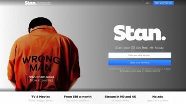 A screenshot of the Stan Homepage