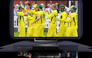 A mockup showing Foxtel's 4K service