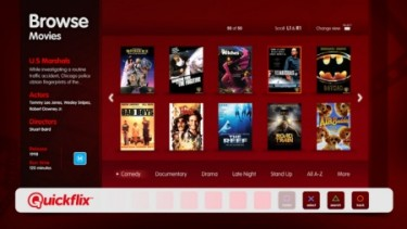 Screenshot of PS3 Quickflix Interface
