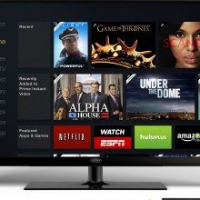 A photo showing the Amazon Fire TV interface