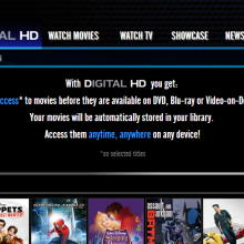 Screenshot of EzyFlix's Digital HD Section