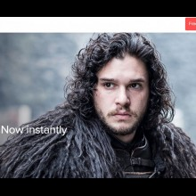 Screenshot of the Foxtel Now website