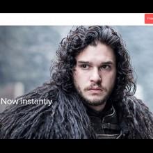 Screenshot of the Foxtel Now website