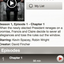 Screenshot of Netflix iOS 7 App with HD playback