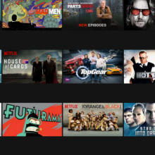 Screenshot of Netflix's New Web Interface