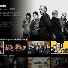 Screenshot of the new Netflix unified interface