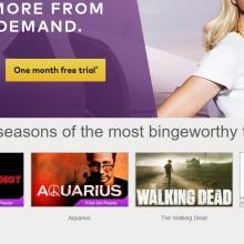 Screenshot of the Presto website