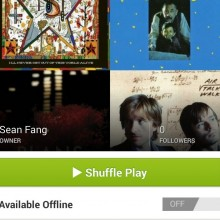 Screenshot of Spotify for Android