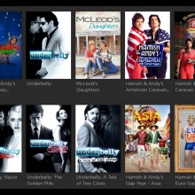 Screenshot of sample Australian content on SVOD platform Stan