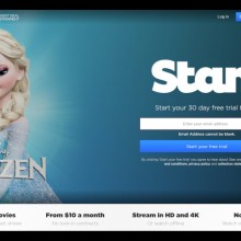A screenshot showing the Stan Homepage