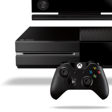 Photo of Microsoft's Xbox One game console with Kinect camera and new controller