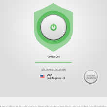 A screenshot of the ExpressVPN Android app