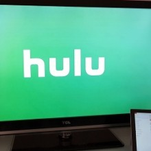 A photo showing Hulu casting on an Australian Chromecast